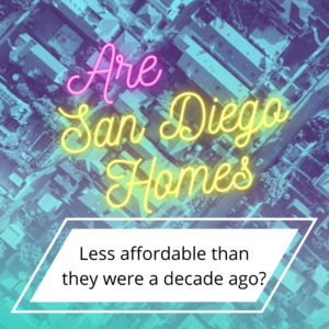 San Diego Homes Less Affordable